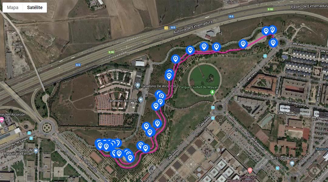 Imagen Ruta central en el Parque de la República