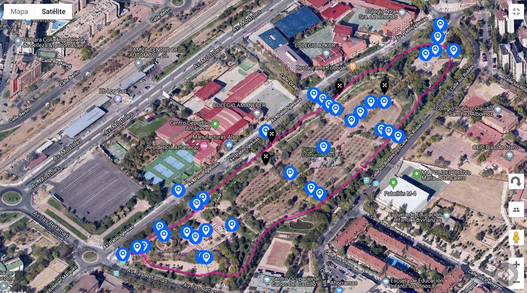 Imagen Ruta perimetral en el Parque de las Comunidades