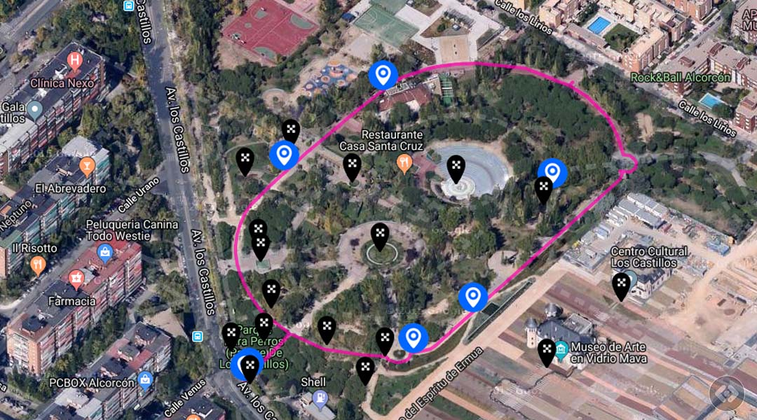 Imagen Ruta perimetral en el Parque de los Castillos